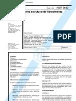 ABNT NBR 05640 - 1995 - Telha Estrutural de Fibrocimento