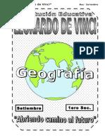 SETIEMBRE- GEOGRAFÍA - 1ERO