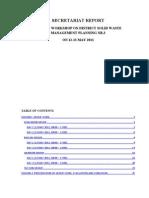 Secretariat Report Workshop DSWMP