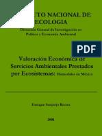 Valoración Económica de Servicios Ambientales Prestados por Ecosistemas