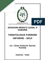 Tanatologia Forense - Informe 2010 - División Médico Legal II de Huaura
