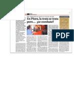 Detective Raul Enrique Bibiano Nota de Prensa Audiencia Publica Contra La Trata de Personas Publicada Por Diario El Tiempo de Piura