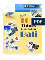 Dons 101 Things to Do in Bali