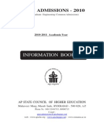 Information Booklet 2010
