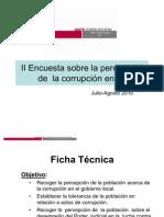 II Encuesta sobre la Percepción de la Corrupción en Ilo