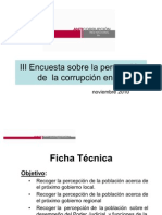 III Encuesta sobre la Percepción de la Corrupción en Ilo