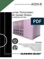 Screw Compressor Air Cooled Chiller - Catalog