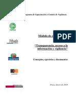 Modulo de Capacitación Transparencia y Acceso a la Información Pública