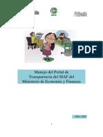 Módulo de Capacitación en el manejo del portal SIAF del MEF