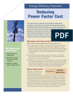 Energy Efficiency Factsheet - Reducing Power Factor Cost