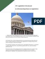 New Bipartisan EV Legislation Introduced