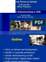 Gender Mainstreaming in ADB