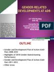 Gender-Related Developments at ADB