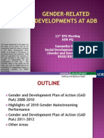 Gender-Related Developments at ADB