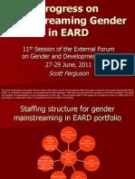 Progress on Mainstreaming Gender in EARD