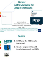 Gender and ADB's Managing for Development Results