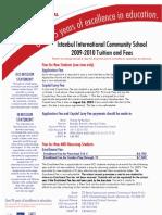 IICS Tuition 2009-2010