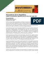 Pensadores de la República -Presentación de Agustín Haya de la Torre
