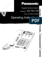Panasonic KXTS17W User Manual