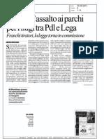 Fallisce l'assalto ai parchi per i litigi tra  Pdl e Lega (la Repubblica)