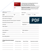 The Harvard-Yenching HYI - Application Form Visiting Fellows