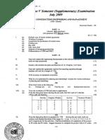 Cusat 5th Sem Ce Question Paper