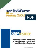 Berg NW2010 30 Tips for SAP BI Performance v4