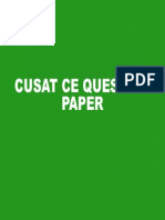 Cusat CE Question Paper