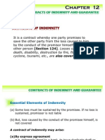 Contracts of Indemnity and Guarantee