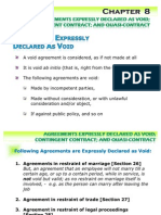 Agreements Expressly Declared as Void;  Contingent Contract; and Quasi-Contract