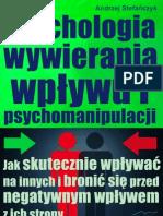 Psychologia Wywierania Wplywu i Psychomanipulacji