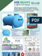 Septic Tank Fibreglass Silinder Horisontal Biotech System (BioSys) BCX-Series