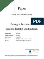 Paper 'Bewegen Bevordert de Gezonde Leefstijl Van Kinderen'