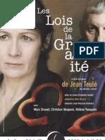 """Dossier de presse """"les lois de la gravité"""" Theatre la Luna"""