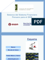 Balance Del Sistema Financiero 2008