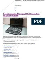 Disassemble HP Compaq 6730s 6735s