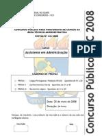 Prova adm Ufc 2008
