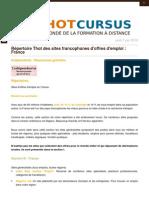 Sites d'Offres d'Emploi en France