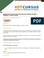 Sites d'Offres d'Emploi en Belgique, Canada, Suisse