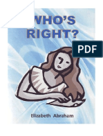 Who's Right? by Elizabeth Abraham