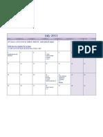 El Cajon Workshop Calendar