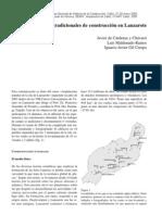 TÉCNICAS TRADICIONALES DE CONSTRUCCIÓN EN LANZAROTE