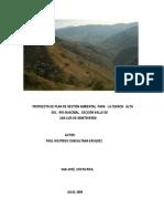 PLan de Gestiòn Ambiental  de la Cuenca Alta del Rìo Guacimal. Costa Rica