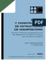 Diseño y Construccion de Estructuras de Mamposteria UNAM