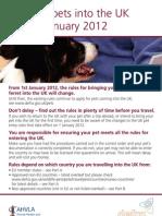 Bringing Pets Into the UK