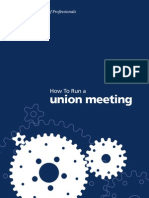 Guidebook How to Run a Union Meeting