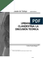 Urbanización clandestina