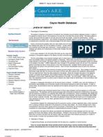 OBESITY_ Cayce Health Database