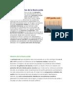 Concepto y Efectos de La Lluvia Acida