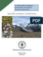 Flora y vegetación altoandina:Parque Nacional Los Glaciares.Zona norte y áreas vecinas